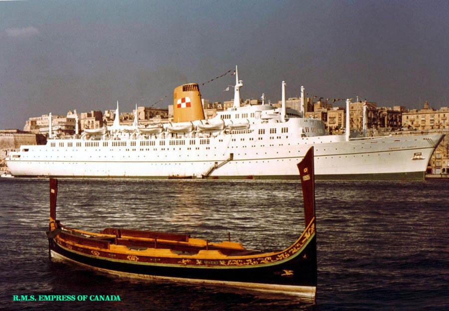 Rms Empress Of England 1957 1970