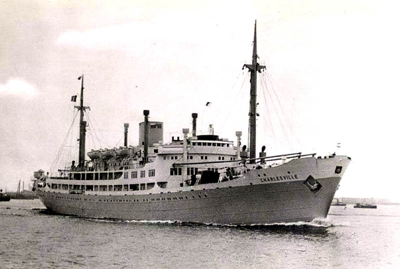 ms charlesville was one of five sister ships built for compagnie maritime belge u2019s congo service