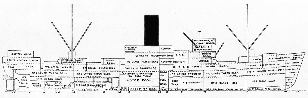 the china navigation co  ltd   ms anking    amp  ms anshun   basic ships layout and interior images