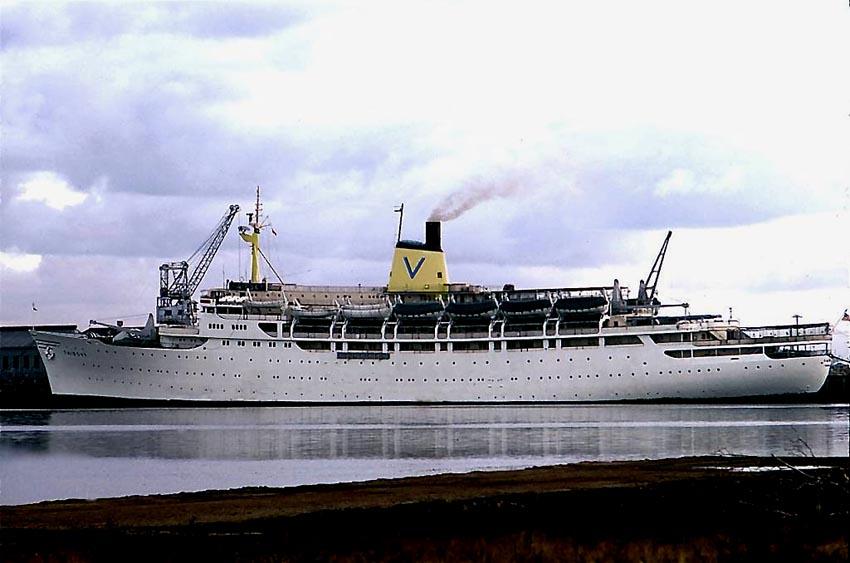 Sitmar Line Fairsky - Cruise ship arrivals adelaide