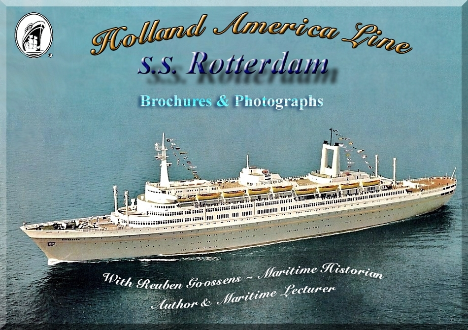 SS Rotterdam V  Part 4  Brochures Page One