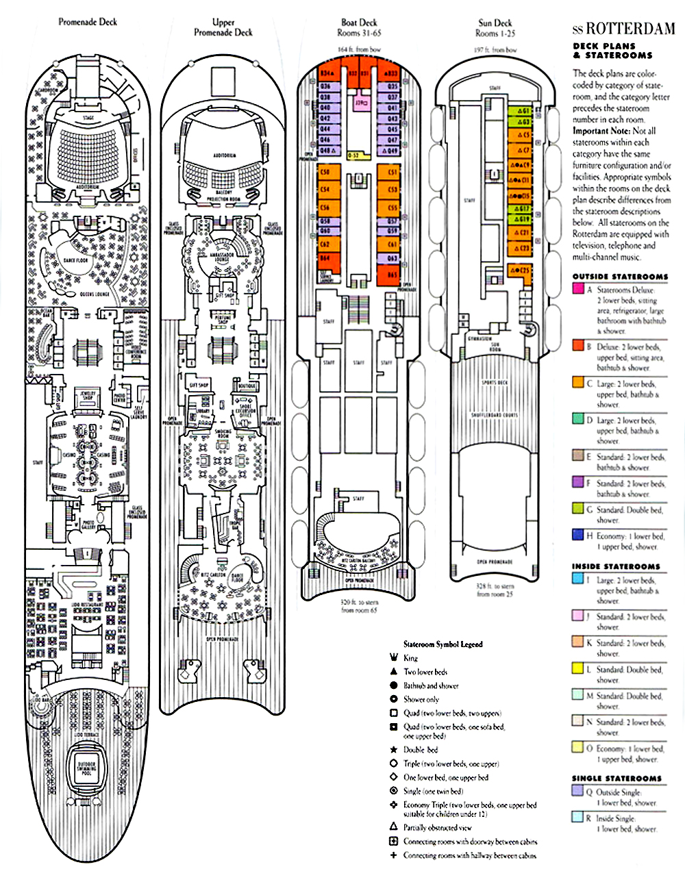 Ss rotterdam v part 6 deck plans other images for Deck plans online