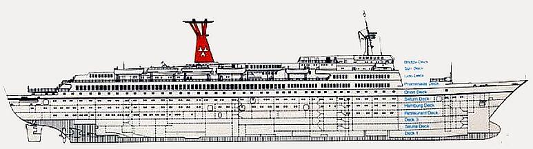 diagram of cruise ship