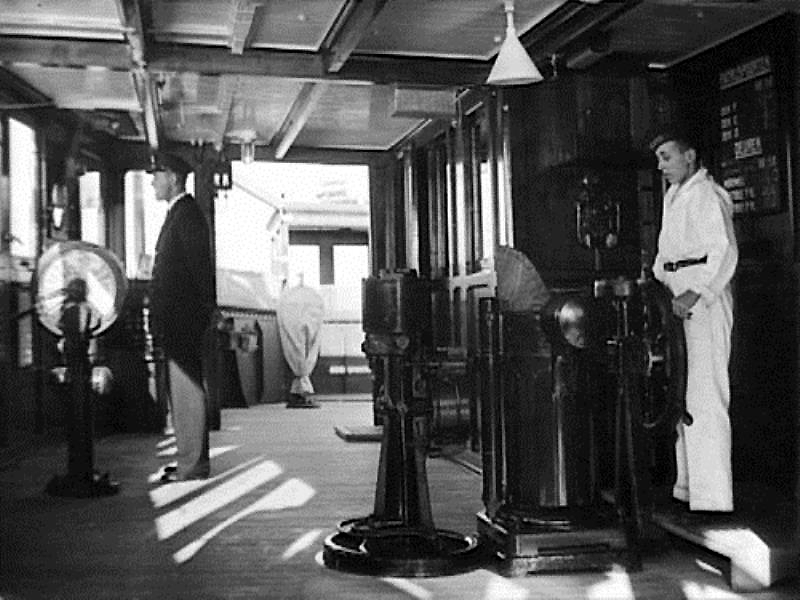 Image result for 1930s ship captain on bridge