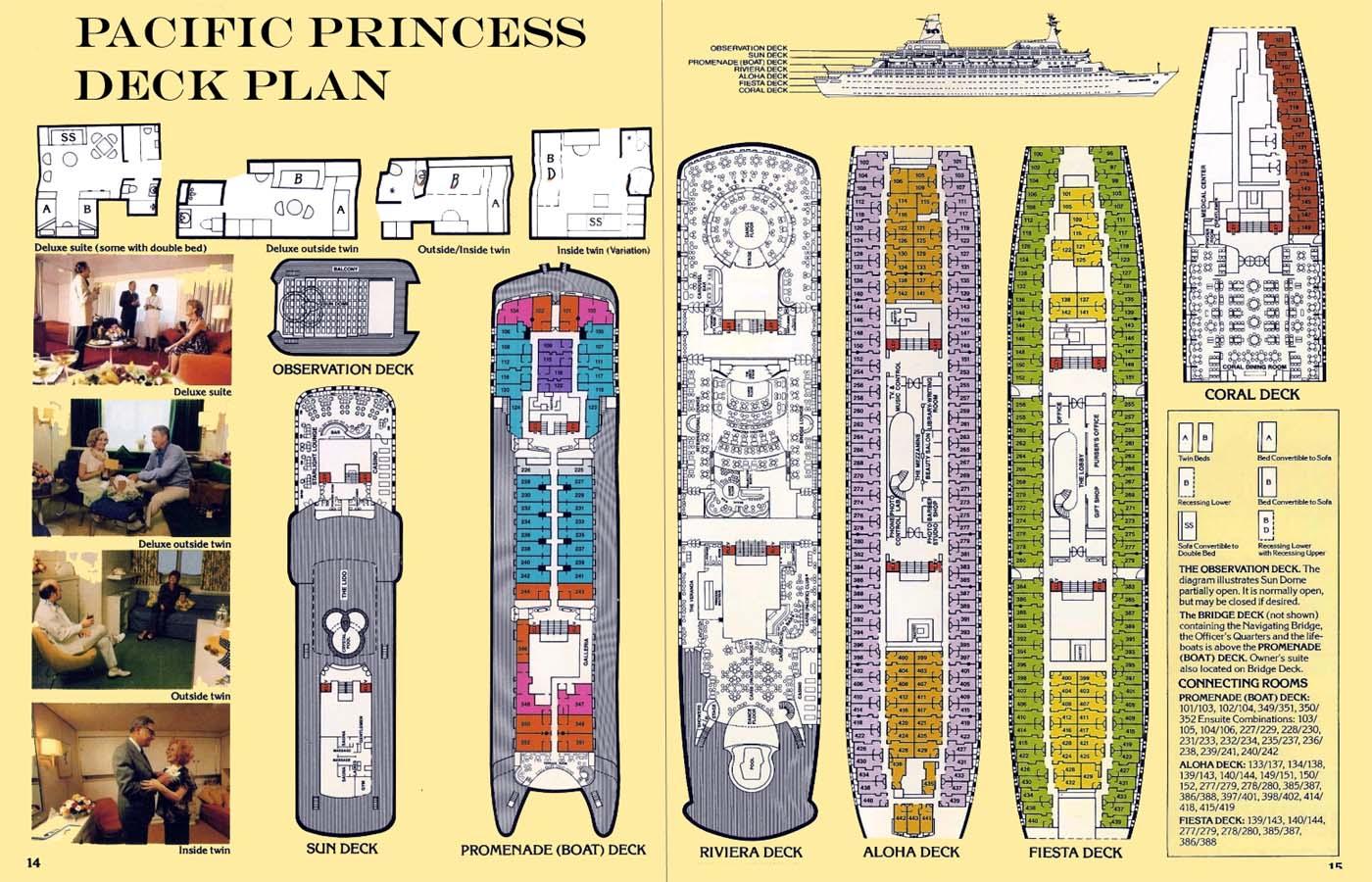 Sun Princess Cruise Ship Deck Plans Original Pacific 28 Images