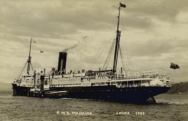 Union Steam Ship Co Ss Marama 1907 And Ss Maheno 1905