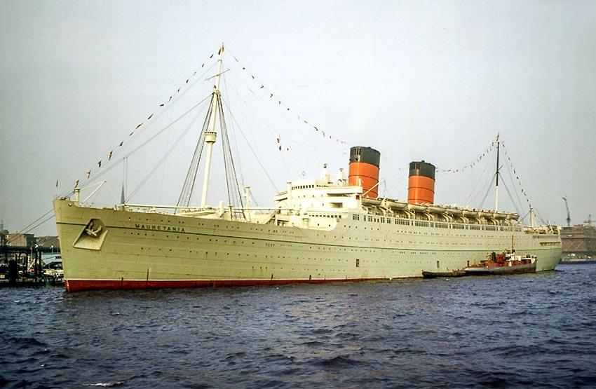 The Mauretania Is Seen Here In Port Of Hamburg Germany Around 1964 1965