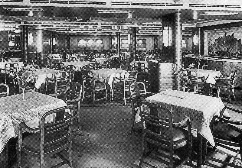 Third class dining room on the titanic