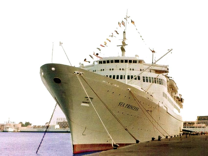 From POs Sea Princess Victoria Mona Lisa Oceanic II And Hotel - Where is the sea princess cruise ship now