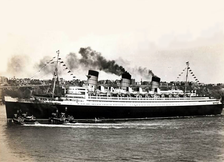 Image result for the maiden voyage of the queen mary