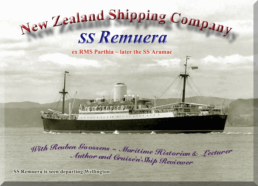 SS Remuera - Mal Walker sails on her very last voyage from ...