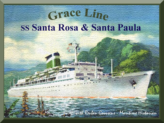 Grace Lines SS Santa Rosa Santa Paula To - 1930s cruise ships