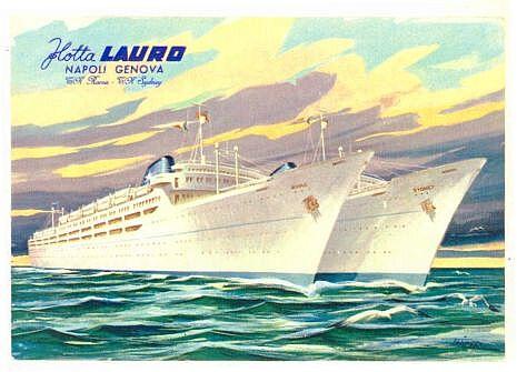 Flotta Lauro Lines Ss Roma Amp Sydney