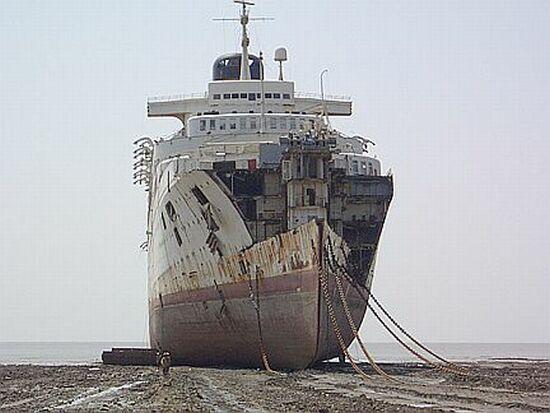SS Rita, ex Margarita L, ex Windsor Castle at Alang India